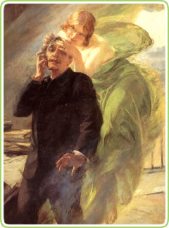 The Green Muse by Albert Maignan (1895)